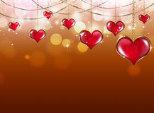 San Valentine Red Background Fotografia Stock