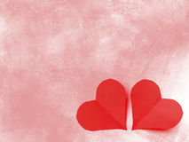 San valentine two hearts Royalty Free Stock Image