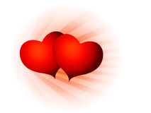 San valentine two hearts Stock Photography