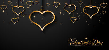 San Valentines Day background for dinner invitations Royalty Free Stock Photography