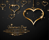San Valentines Day background for dinner invitations Royalty Free Stock Photo