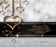 San Valentines Day background for dinner invitations Stock Photography