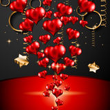 San Valentines Day background for dinner invitations Stock Images