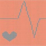 San Valentino, cuore e battito cardiaco Fotografia Stock Libera da Diritti