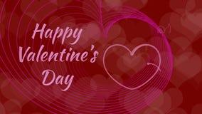 San Valentino, cuori nell'amore, limite dal cupido illustrazione vettoriale