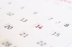 San Valentino del calendario. Fotografie Stock