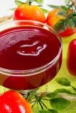 San Valentino del dessert della fragola Fotografia Stock Libera da Diritti