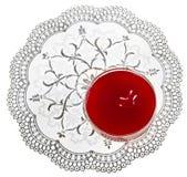 San Valentino del dessert della fragola Fotografie Stock Libere da Diritti