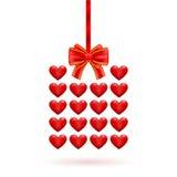 San Valentino del regalo dei cuori Immagine Stock