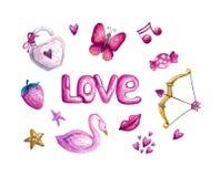 San Valentino dell'acquerello royalty illustrazione gratis