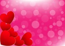 San Valentino della carta su un fondo rosa Fotografia Stock