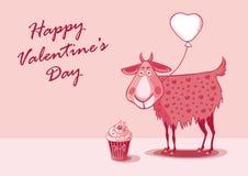 San Valentino della cartolina Immagine Stock