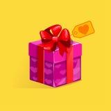 San Valentino della st del contenitore di regalo Fotografia Stock Libera da Diritti