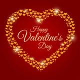 San Valentino della struttura dei cuori Immagine Stock