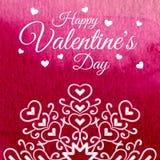 San Valentino della struttura dei cuori Immagini Stock Libere da Diritti