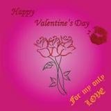 San Valentino felice Fotografie Stock Libere da Diritti