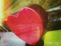 San Valentino felice del cuore Fotografie Stock