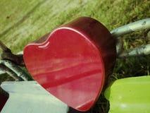 San Valentino felice del cuore Fotografia Stock