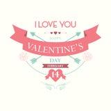 San Valentino felice febbraio Immagine Stock Libera da Diritti
