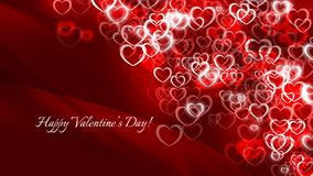 San Valentino felice! Molti piccoli cuori rossi illustrazione vettoriale