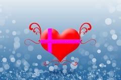 San Valentino felice sui precedenti del bokeh Fotografie Stock Libere da Diritti
