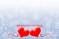 San Valentino felice sui precedenti del bokeh Fotografia Stock