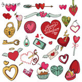 San Valentino, nozze, amore, decorazione dei cuori Fotografie Stock Libere da Diritti