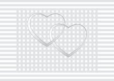 San Valentino, partecipazione di nozze, invito Fotografie Stock Libere da Diritti