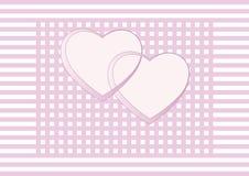 San Valentino, partecipazione di nozze, invito Immagine Stock
