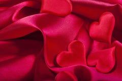 San Valentino rosso del cuore Immagini Stock Libere da Diritti