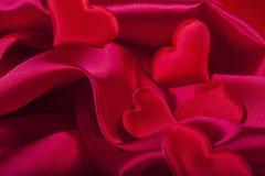 San Valentino rosso del cuore Fotografie Stock