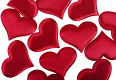 San Valentino rosso del cuore Fotografia Stock