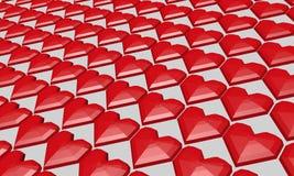 San Valentino rosso del cuore Fotografie Stock Libere da Diritti