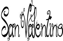 San Valentino Script Letting Stock Image