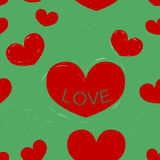San Valentino senza cuciture del fondo Immagini Stock Libere da Diritti