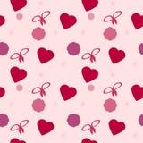 San Valentino senza cuciture di struttura Fotografia Stock Libera da Diritti
