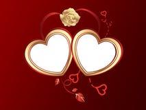 San-Valentinsgrußinnerhintergrund Lizenzfreie Stockbilder