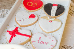 San Valentín - wedding cookies. Royalty Free Stock Image