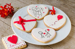 San Valentín - wedding cookies. Stock Photo