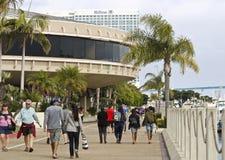 San Van de binnenstad Diego Waterfront Scene Near de Marriott-Markies Stock Afbeeldingen