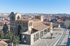 San Vicente Basilica at Avila, Spain Stock Photo