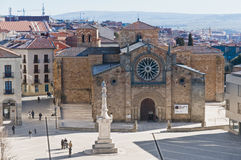 San Vicente Basilica at Avila, Spain Stock Images