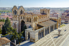 The San Vicente Basilica in Avila, Spain Royalty Free Stock Photos