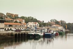 San Vicente de la Barquera Foto de archivo libre de regalías