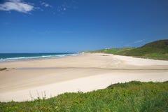 San Vicente de la Barquera beach Stock Images