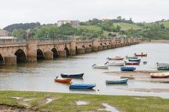 San Vicente de la Barquera, la Cantabrie, Espagne Photo libre de droits
