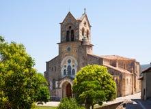 San Vicente Martir y San Sebastian kyrka i Frias royaltyfria bilder