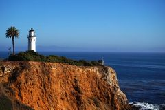 San Vicente Pointe Lighthouse Stock Image