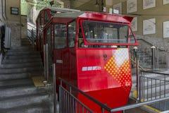 San Vigilio Funicular, Bergamo miasto Obraz Royalty Free