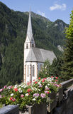 San Vincent Pilgrimage Church in Heiligenblut Fotografie Stock Libere da Diritti
